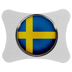 Sweden Flag Country Countries Jigsaw Puzzle Photo Stand (bow)