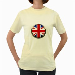 United Kingdom Country Nation Flag Women s Yellow T Shirt