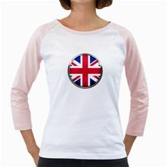 United Kingdom Country Nation Flag Girly Raglans