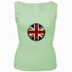 United Kingdom Country Nation Flag Women s Green Tank Top