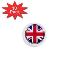 United Kingdom Country Nation Flag 1  Mini Buttons (10 Pack)