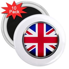 United Kingdom Country Nation Flag 3  Magnets (10 Pack)