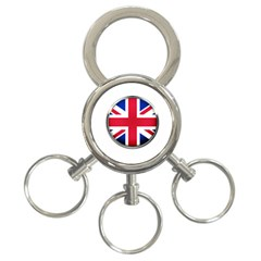 United Kingdom Country Nation Flag 3 Ring Key Chains