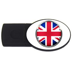 United Kingdom Country Nation Flag Usb Flash Drive Oval (2 Gb)