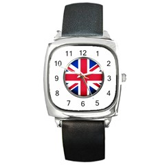 United Kingdom Country Nation Flag Square Metal Watch