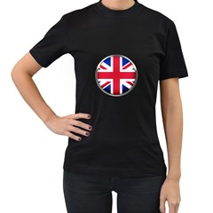 United Kingdom Country Nation Flag Women s T Shirt (black) (two Sided)