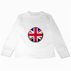 United Kingdom Country Nation Flag Kids Long Sleeve T Shirts