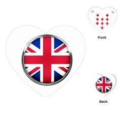United Kingdom Country Nation Flag Playing Cards (heart)