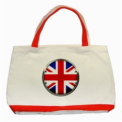 United Kingdom Country Nation Flag Classic Tote Bag (red)