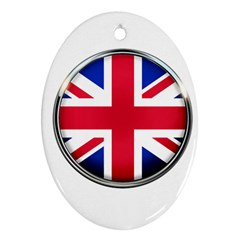 United Kingdom Country Nation Flag Oval Ornament (two Sides)