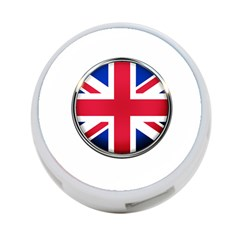 United Kingdom Country Nation Flag 4 Port Usb Hub (two Sides)  by Nexatart