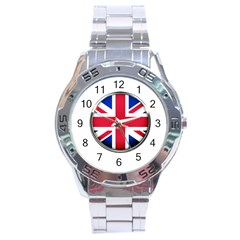 United Kingdom Country Nation Flag Stainless Steel Analogue Watch