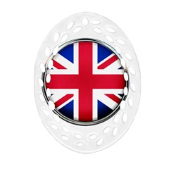 United Kingdom Country Nation Flag Oval Filigree Ornament (two Sides)