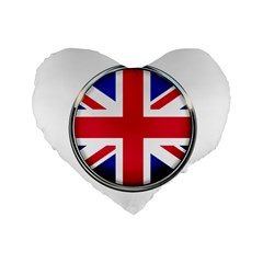 United Kingdom Country Nation Flag Standard 16  Premium Heart Shape Cushions