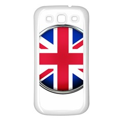 United Kingdom Country Nation Flag Samsung Galaxy S3 Back Case (white)