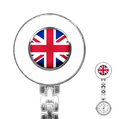 United Kingdom Country Nation Flag Stainless Steel Nurses Watch