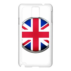 United Kingdom Country Nation Flag Samsung Galaxy Note 3 N9005 Case (white)