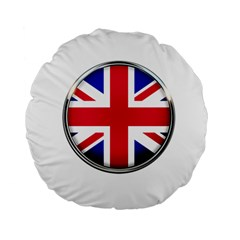United Kingdom Country Nation Flag Standard 15  Premium Flano Round Cushions