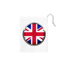 United Kingdom Country Nation Flag Drawstring Pouches (xs)