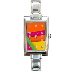Background Abstract Rectangle Italian Charm Watch