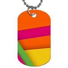 Background Abstract Dog Tag (one Side)