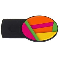Background Abstract Usb Flash Drive Oval (2 Gb)