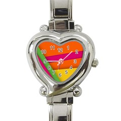 Background Abstract Heart Italian Charm Watch