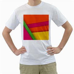 Background Abstract Men s T Shirt (white)