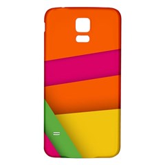 Background Abstract Samsung Galaxy S5 Back Case (white)