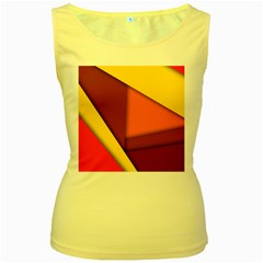 Background Abstract Women s Yellow Tank Top