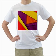 Background Abstract Men s T Shirt (white) (two Sided)