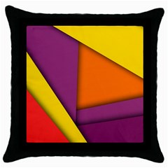 Background Abstract Throw Pillow Case (black)