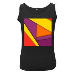 Background Abstract Women s Black Tank Top