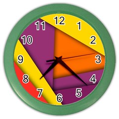 Background Abstract Color Wall Clocks
