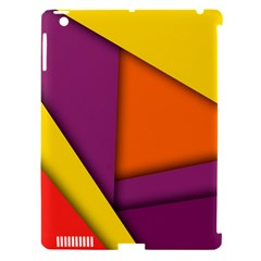 Background Abstract Apple Ipad 3/4 Hardshell Case (compatible With Smart Cover)