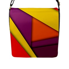 Background Abstract Flap Messenger Bag (l)