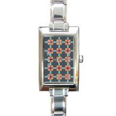 Squares Geometric Abstract Background Rectangle Italian Charm Watch