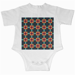 Squares Geometric Abstract Background Infant Creepers