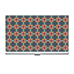 Squares Geometric Abstract Background Business Card Holders