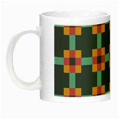 Squares Geometric Abstract Background Night Luminous Mugs