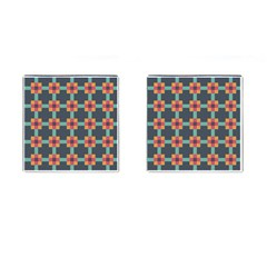 Squares Geometric Abstract Background Cufflinks (square)