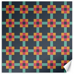 Squares Geometric Abstract Background Canvas 12  X 12