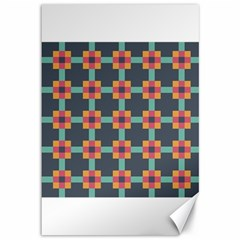 Squares Geometric Abstract Background Canvas 12  X 18