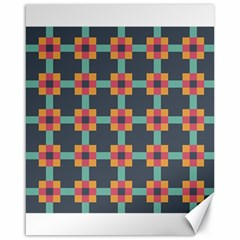 Squares Geometric Abstract Background Canvas 16  X 20