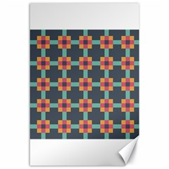 Squares Geometric Abstract Background Canvas 24  X 36