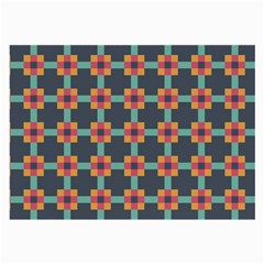 Squares Geometric Abstract Background Large Glasses Cloth