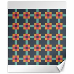 Squares Geometric Abstract Background Canvas 11  X 14