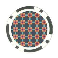 Squares Geometric Abstract Background Poker Chip Card Guard