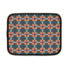 Squares Geometric Abstract Background Netbook Case (small)