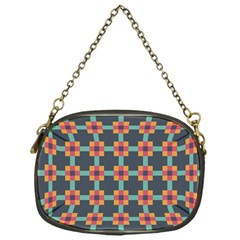 Squares Geometric Abstract Background Chain Purses (one Side)